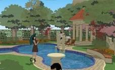 同升湖5区别墅庭院设计 (3图)