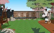 湘江一号别墅庭院景观设计 (3图)
