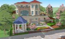 玫瑰园别墅庭院景观设计 (4图)