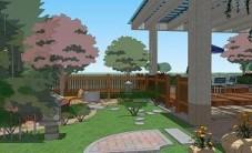 湘潭新景家园王总屋顶花园设计 (4图)