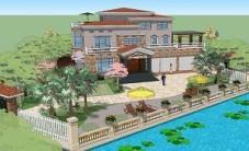 宁乡刘总别墅庭院设计 (2图)