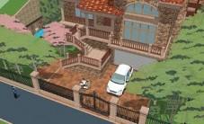保利阆峰云墅S区私家别墅景观设计 (5图)