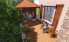 长沙好望谷别墅花园景观设计 (3图)
