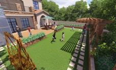 长沙水映加州别墅花园设计 (5图)