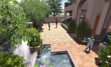 长沙水映加州别墅花园景观设计 (7图)
