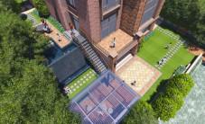 长沙盈峰翠邸别墅花园景观设计 (6图)
