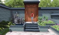 东方大院别墅花园景观设计 (7图)