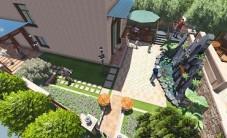 长沙金色溪泉湾别墅园林设计 (5图)